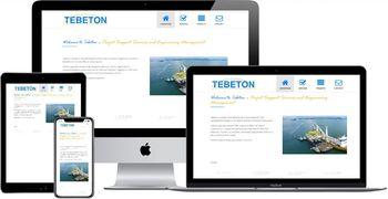 Website van Tebeton